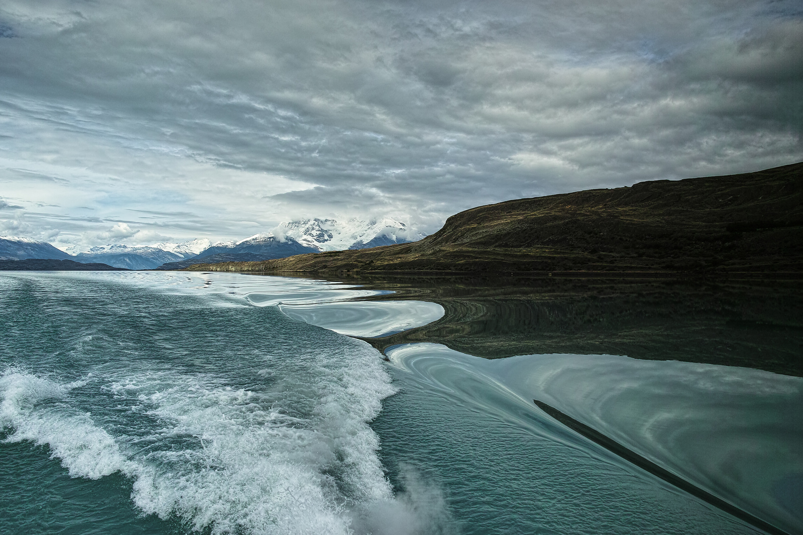 Auf der Fahrt zum Upsala-Gletscher in Patagonien