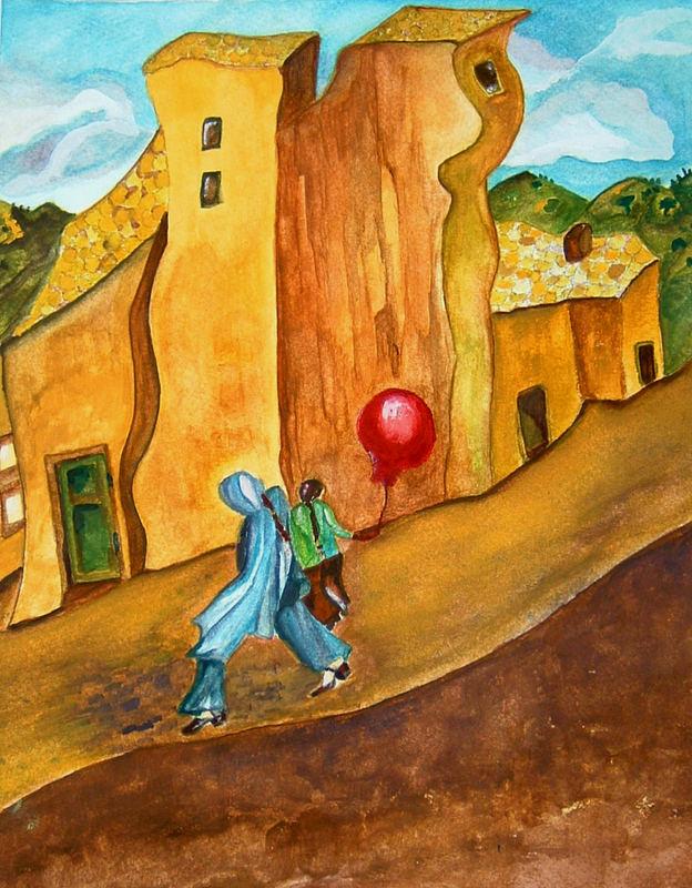 Auf der Flucht mit dem Luftballon