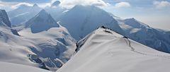 Auf der Gobba de Rollin die knapp 100m höher liegt als das Breithornplateau...