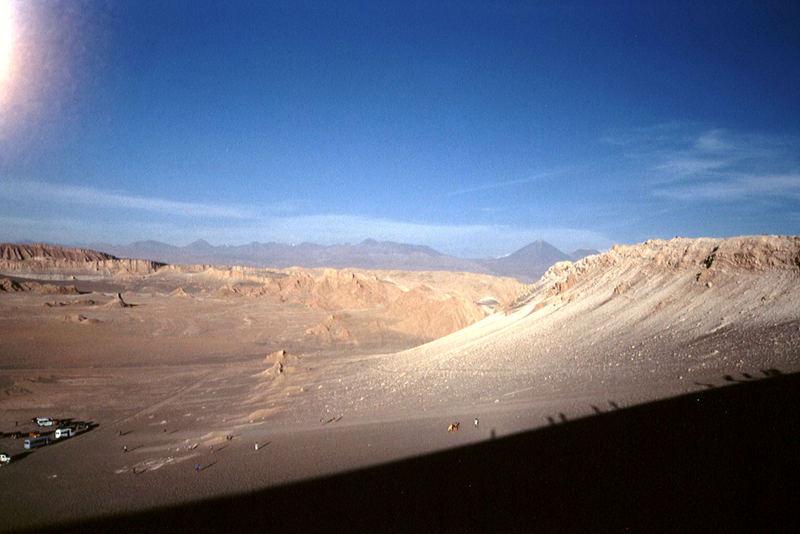 Auf der großen Düne im Valle de la Luna