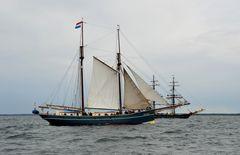 Auf der Ostsee vor Warnemünde während der Hanse Sail 2013