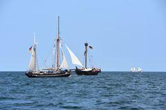 Auf der Ostsee vor Warnemünde zur Hanse Sail 2018