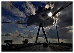 Auf der Severinsbrücke