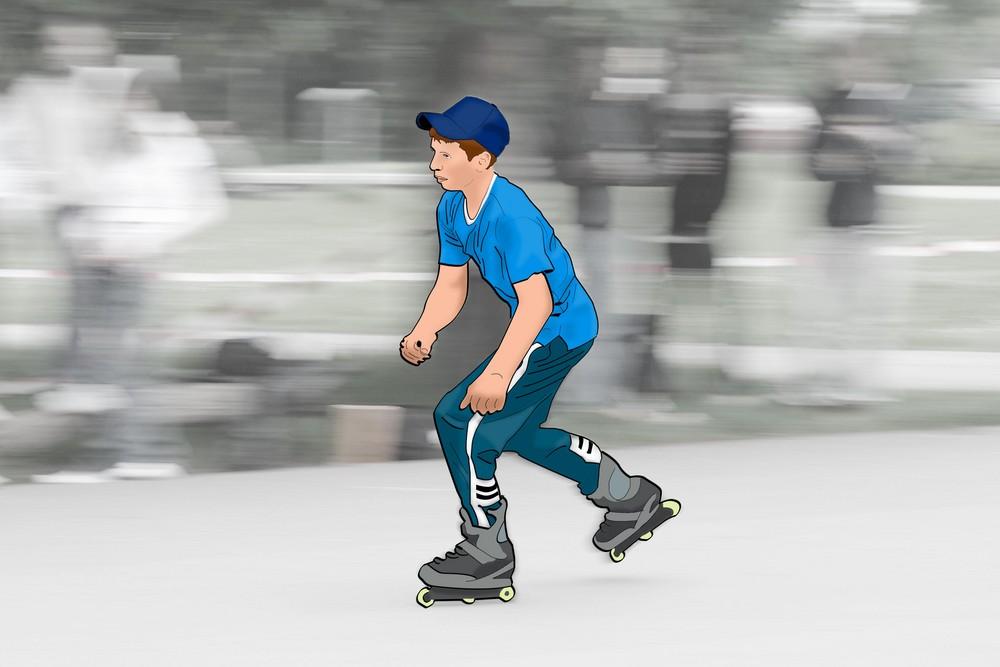 Auf der Skaterbahn