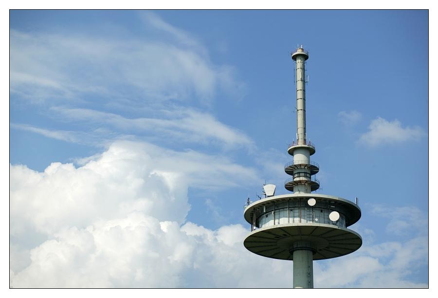 Auf der Spitze des Vulkans - Funkturm
