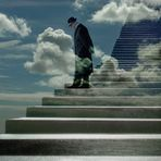 auf der Treppe