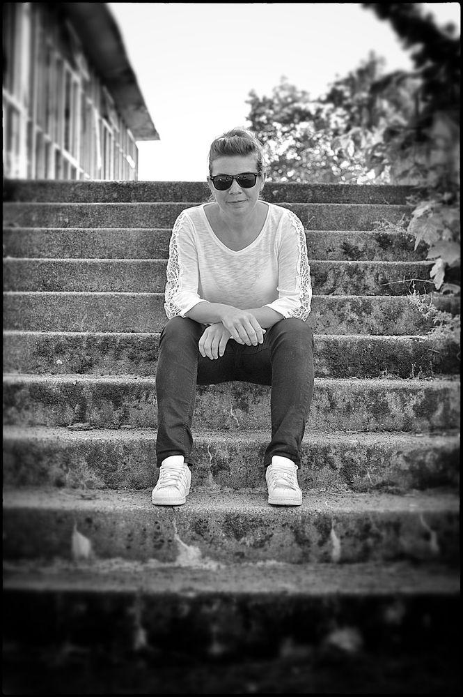 ..auf der Treppe..