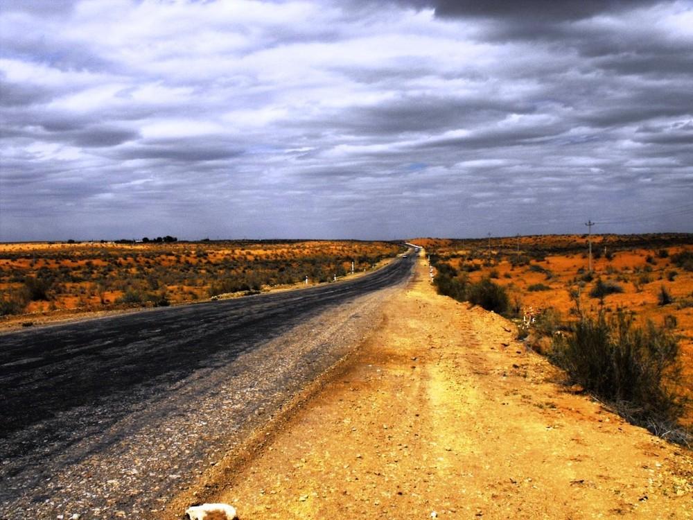 Auf der Wüste Karakum