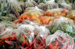 Auf einem Gemüsemarkt...
