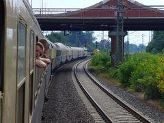 Auf großer Bahnreise