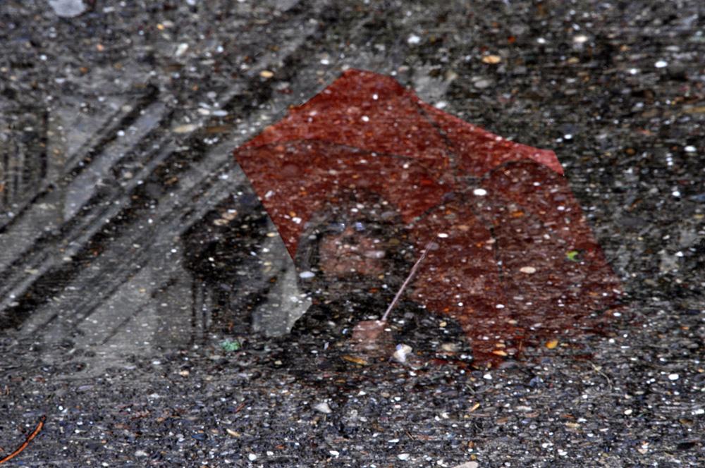 Auf nasser Strasse