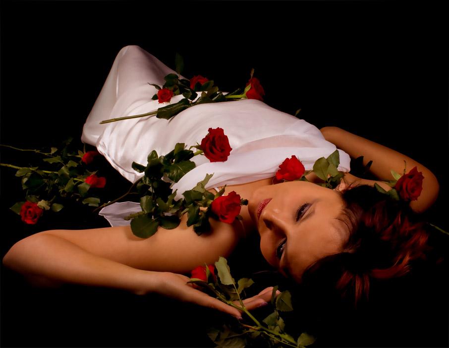 ...auf Rosen gebettet...