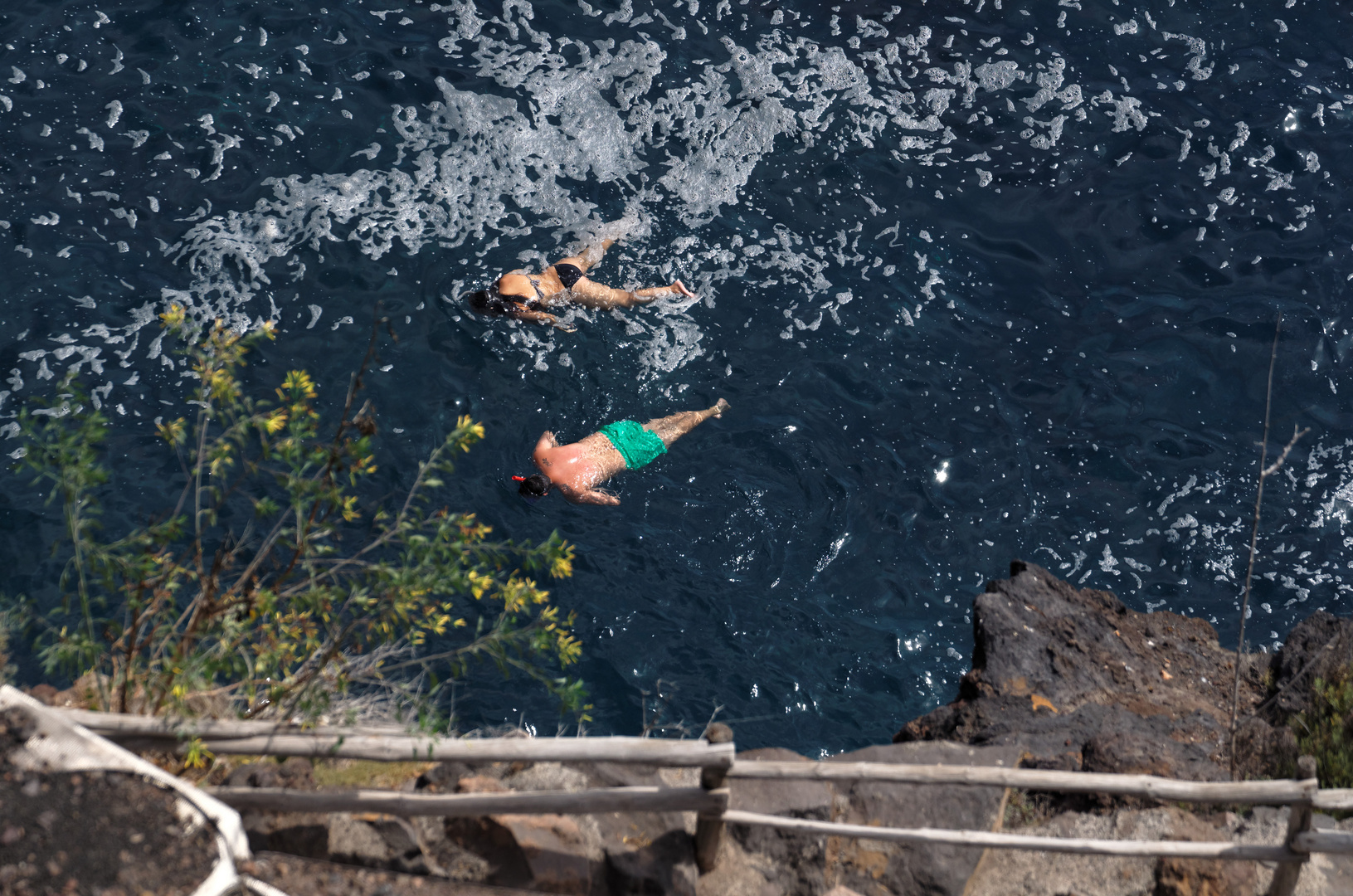 Auf Schnorcheltour, Puerto Puntagorda, La Palma, August 2013