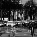 auf Stuttgarts Strassen ...der Abend kommt
