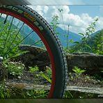 Auf zwei Rädern den Berg hinauf