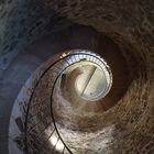 Aufgang im Turm der Burg Hengebach / Heimbach / Eifel