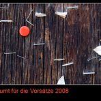 Aufgeräumt für die Vorsätze 2008