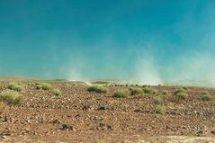 aufgewirbelter Namibia Staub