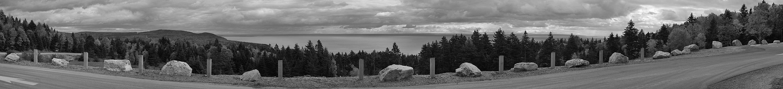 Aufkommende Schlechtwetterfront im Fundy Nationalpark (New Brunswick, Canada)