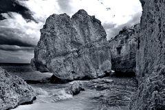 Aufnahme am Strand von Tulum Mexico