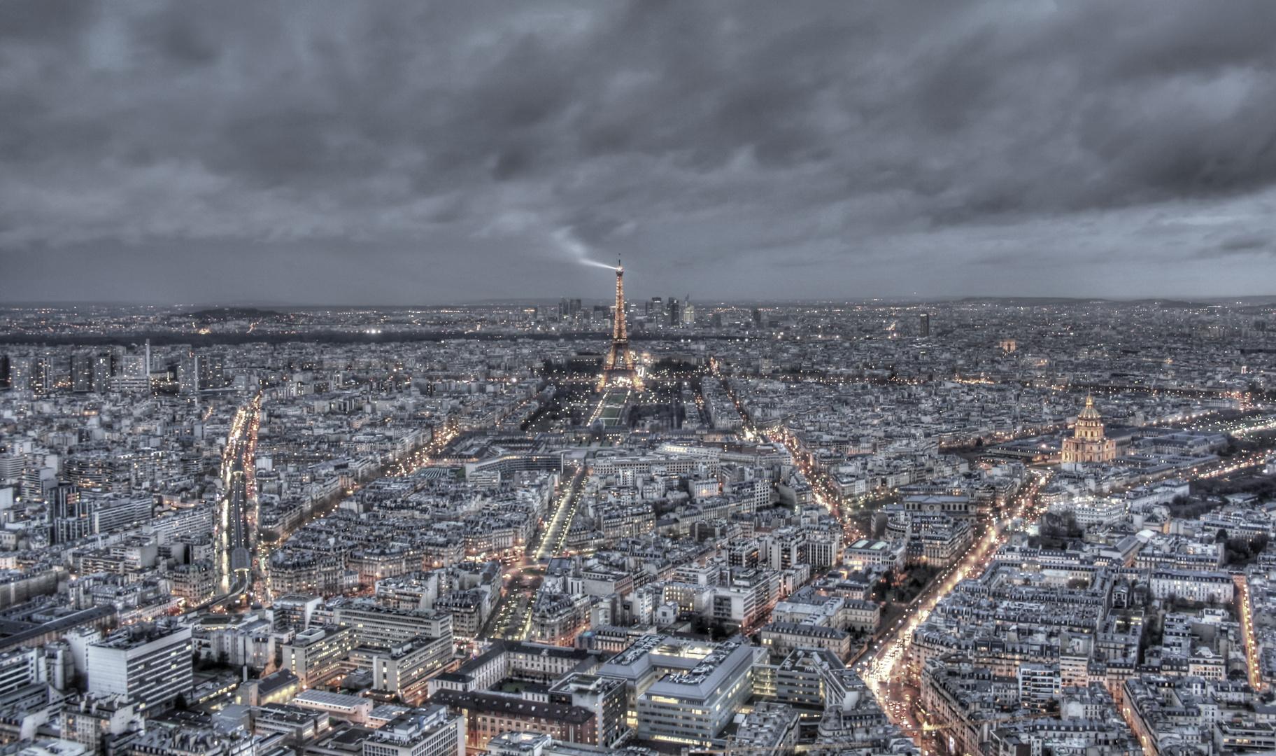 Aufnahme der Stadt Paris