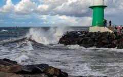 Aufprall einer Ostseewelle