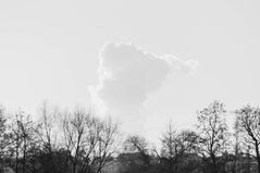Aufsteigende Wolke