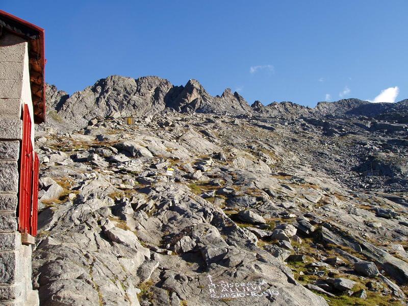 Aufstieg von der Ponti-Hütte zur Allievi Hütte