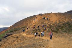 Aufstieg zum Vulkanausbruch am Fagradalsfjall