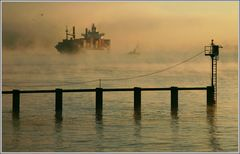 Auftauchen, aus dem Nebel - Coming out of the fog