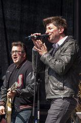 Auftritt der Band Stereolove bei der DTM-Präsentation