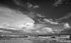 Aufziehende Cumuluswolken über Wangerooge