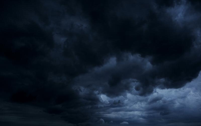 aufziehende Gewitter