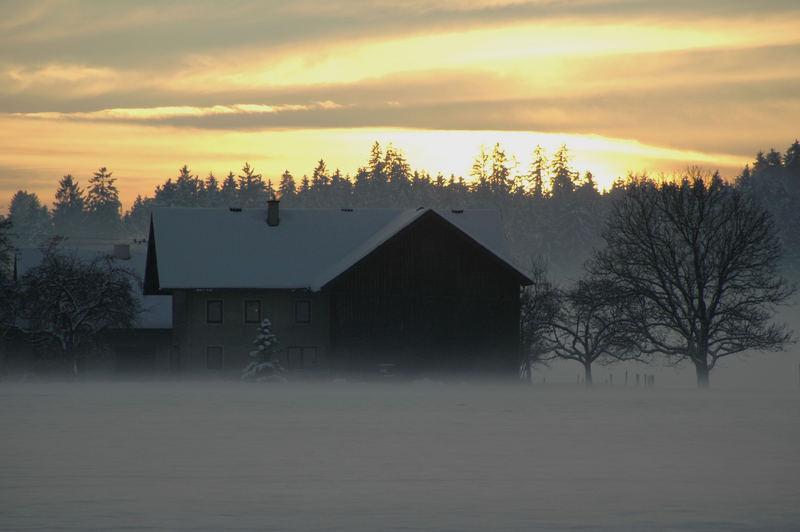Aufziehender Nebel