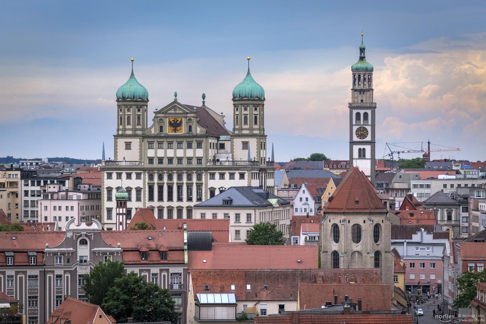 Augsburger Rathaus und Perlachturm