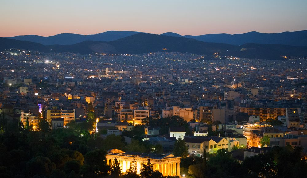 August Abend in Athen