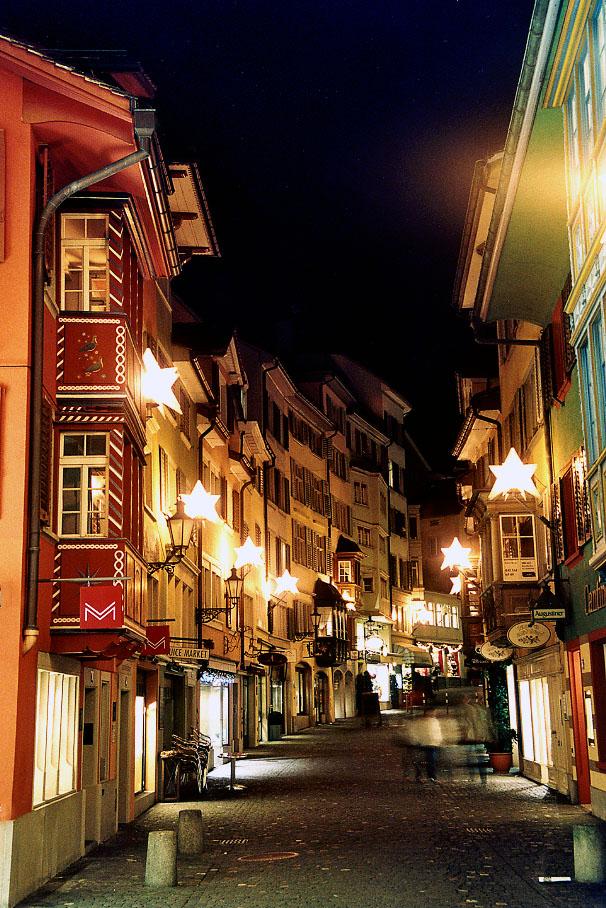 Augustinergasse Zürich (Weihnachten 2004)