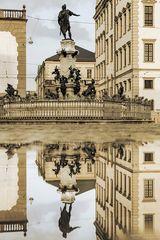 Augustusbrunnen monochrom
