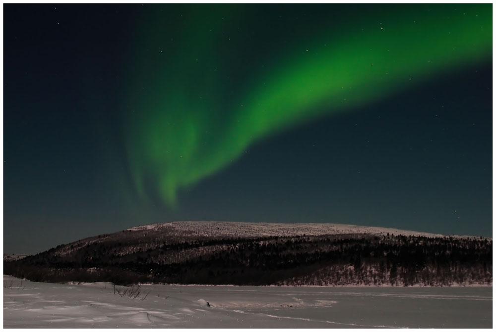 Aurora over Jesnalvaari, Finland