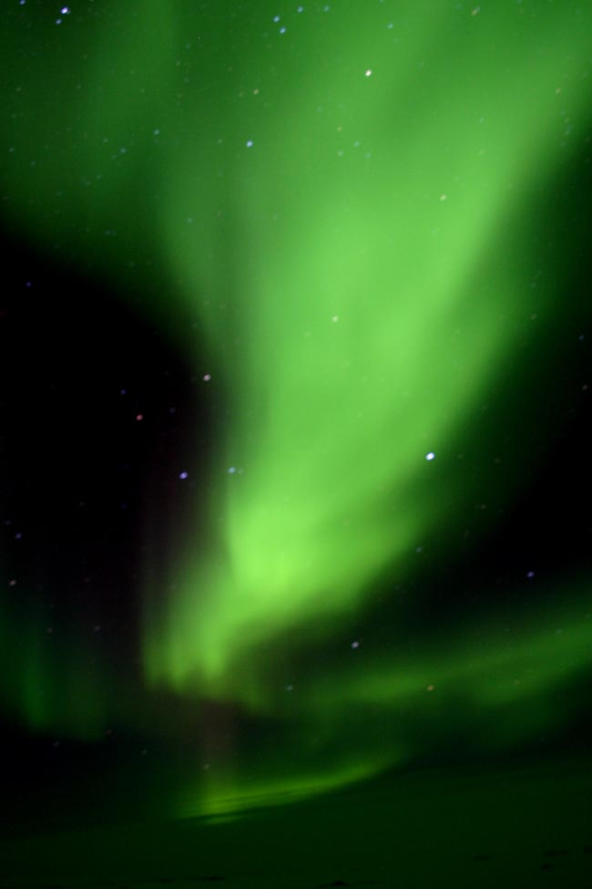 aurore boréal en antarctique