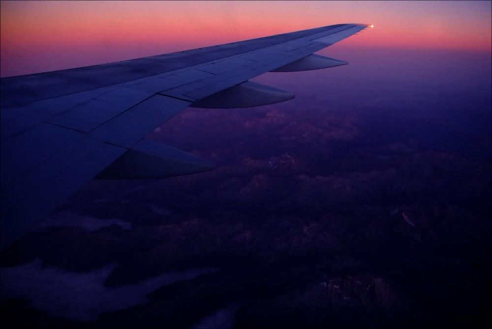 aus dem Flugzeugfenster Foto & Bild   sonnenuntergänge, himmel ...