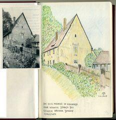 """Aus meinem Skizzenbuch: Die """"ALTE MÜNZE"""" in Eisenach..."""