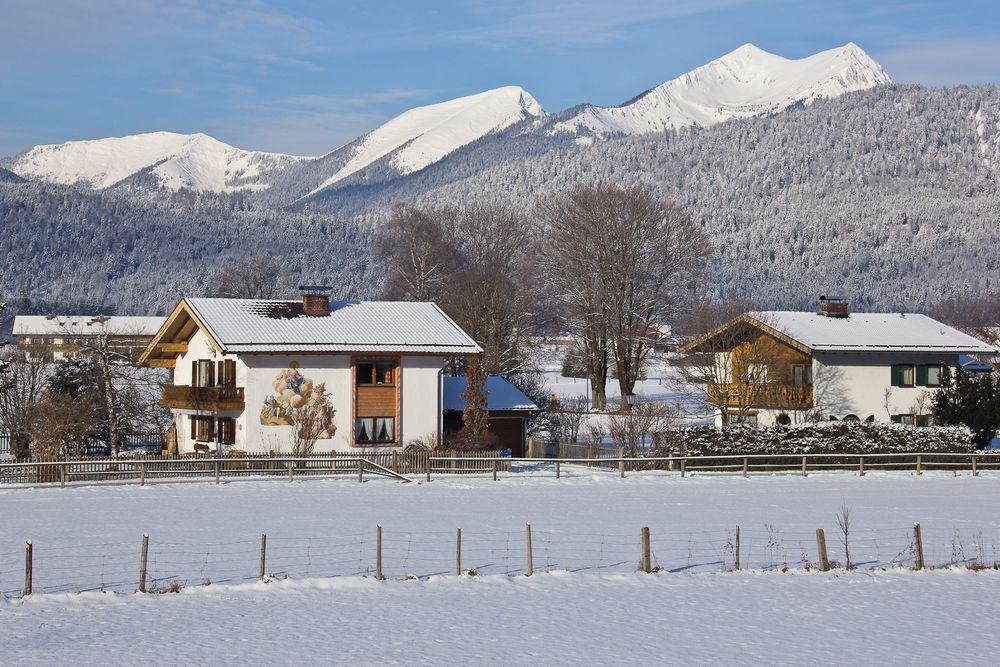 Ausblick auf das Estergebirge...