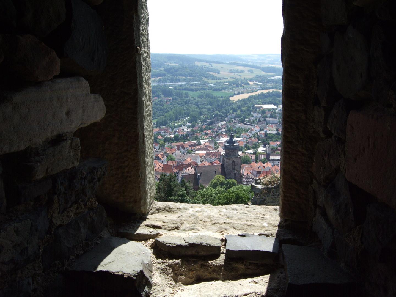 Ausblick auf eine mittelalterliche Stadt