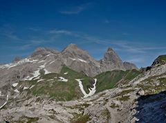 Ausblick auf Hauptkamm der Allgäuer Alpen