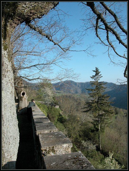 Ausblick bei St. Privat d'Allier / Frankreich