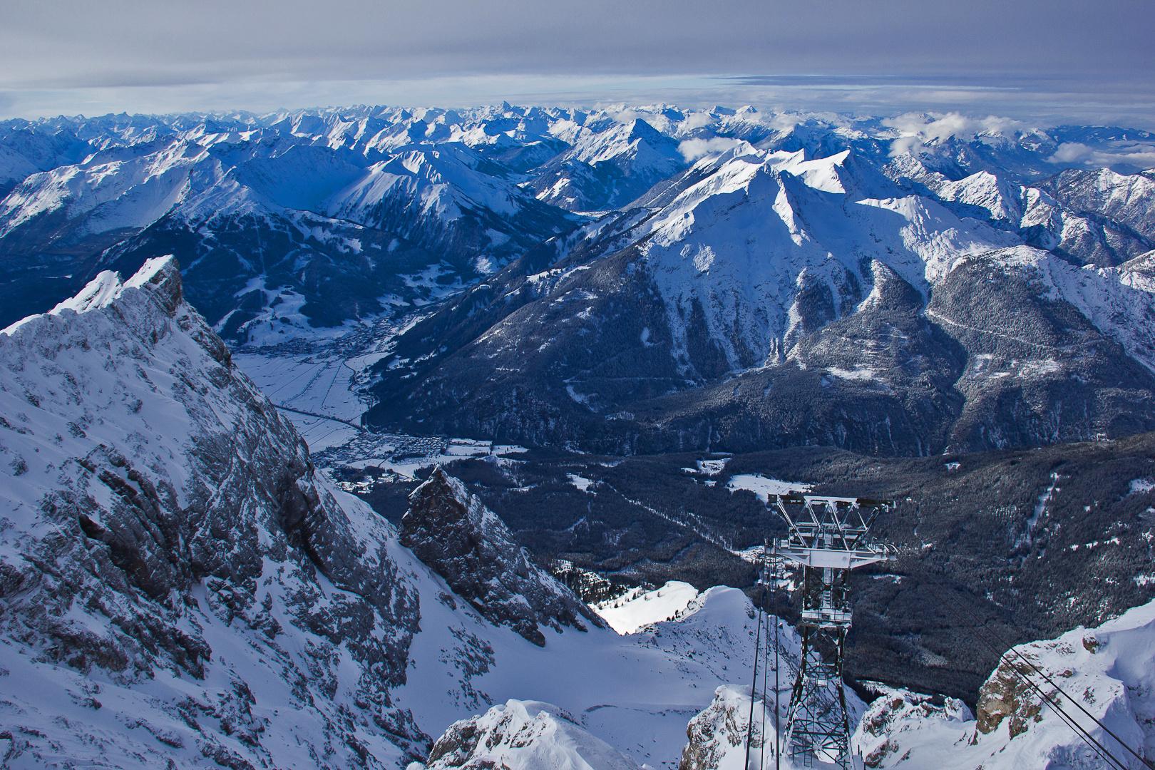 Ausblick Bergstation Zugspitzseilbahn