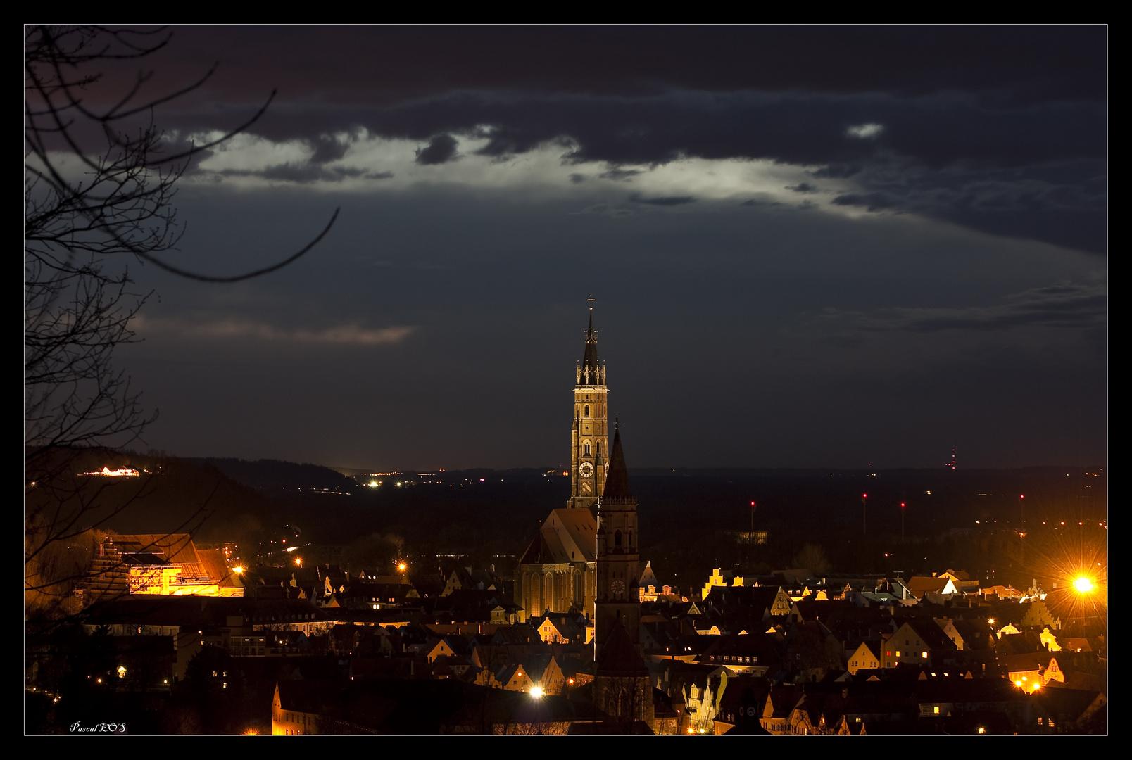Ausblick Landshut bei Nacht