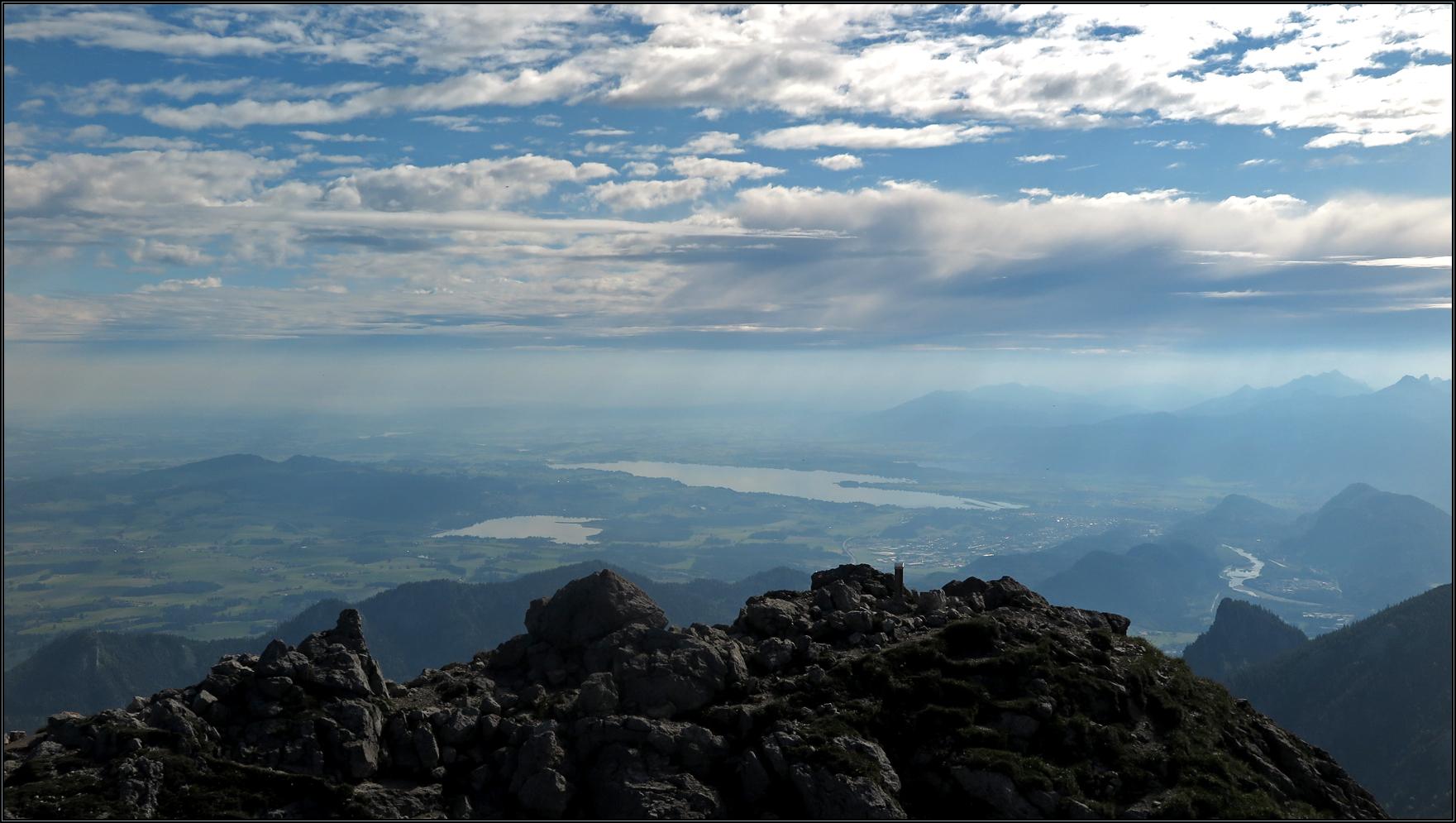 Ausblick vom Aggenstein nach Nord-Osten