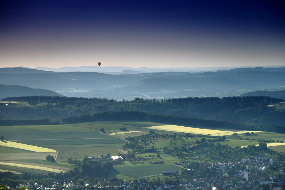 Ausblick vom Berg Hohenstaufen